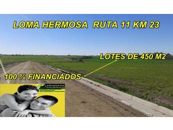 URBANIZACION LOMA HERMOSA RUTA 11 FINANCIADOS HASTA 60 CUOTA