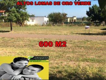 VENDO TERRENO FRENTE AL INTA EN ORO VERDE DE 600 M2