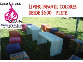 Alquiler Living de Colores - Infantil