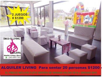 ALQUILER DE LIVING - COMBO 20 PERSONAS SENTADAS