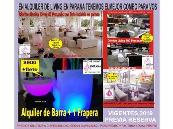 ALQUILER DE LIVING POR CANTIDAD DE 10 A 200 PERSONAS