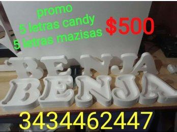 Letras y numeros candy