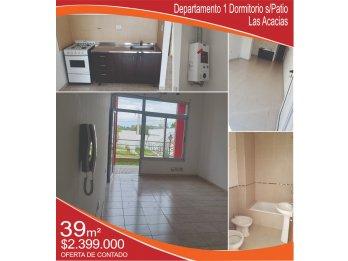VENDO Departamento 1 Dormitorio s/Patio Las Acacias