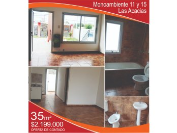 VENDO Monoambiente 11 y 15 - Las Acacias