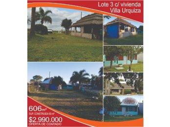 VENDO Lote 3 con vivienda - Villa Urquiza