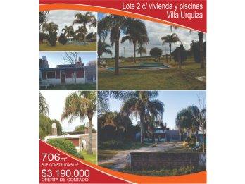 VENDO Lote 2 con vivienda - Villa Urquiza