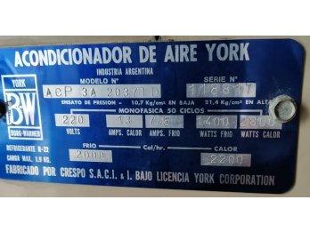 AIRE YORK 3000 Frigorias FRIO SOLO