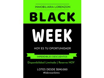 ¡¡BLACK WEEK EN LOTES!! DESDE $290.000