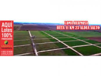 LOTES PLAN 100 % FINANCIADOS EN RUTA 11 - LOMA HERMOSA