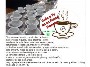 El Cafe o Te en tu fiesta