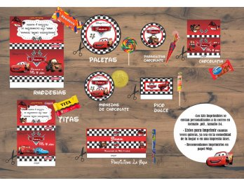 Kit Imprimibles! Candy Bar. Personalizables