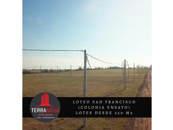 Venta de lote p/construir en 3 meses - Loteo San Francisco