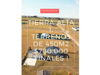 OPORTUNIDAD TERRENO LISTO P/CONSTRUIR EN TIERRA ALTA