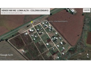 VENDO 900 M2., EN LOMA ALTA, COLONIA ENSAYO