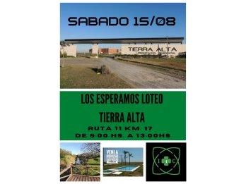 SABADO 15/08/2020!!!! GUARDIA EN LOTEO TIERRA ALTA