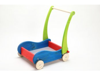 Carrito Caminador De Empuje Madera  Manija Rebatible