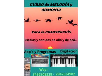 Curso de MELODÍA Y ARMONÍA para la Composición Musical