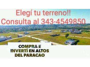 VENTA LOTES EN ZONA PARACAO!!!! FINANCIACION PROPIA