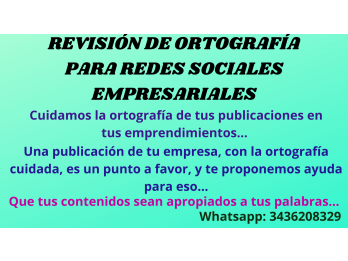 Revisión Ortográfica Empresarial Para Redes Sociales