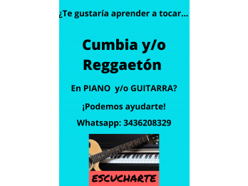 En la Academia Musical Escucharte: ¡Cumbia y/o Reggaetón!