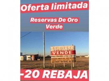 OFERTA TERRENO RESERVAS DE ORO VERDE