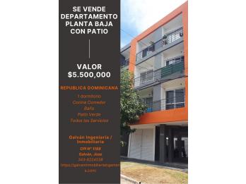 #VENTA DEPARTAMENTO CON PATIO
