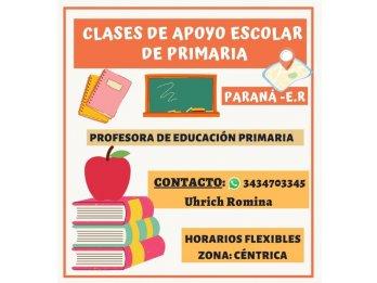 Clases de apoyo escolar - Nivel Primario