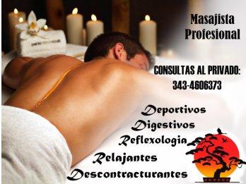 masajista profesional ambos sexos
