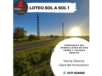 VENTA DIRECTA LIBRE DE HONORARIOS - LOTES EN ORO VERDE