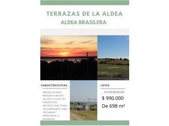 Hermosos terrenos con vista al rio en Aldea Brasilera