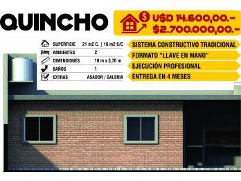 VENDO OPORTUNIDAD DE PROYECTO DE QUINCHO - 1 DORMITORIO - CO